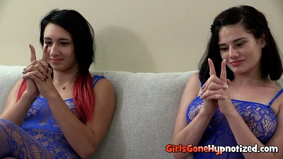 Two girls under hypnosis