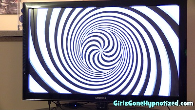 Girl hypnotized by spiral